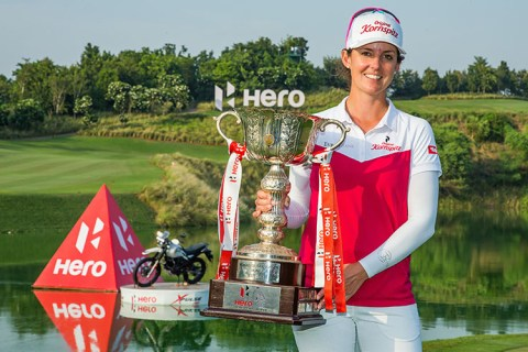 Christine Wolf wins the Hero Women's Indian Open
