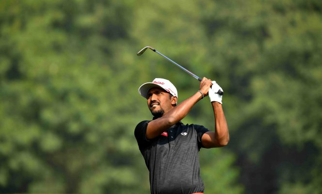 GURGAON-INDIA-Chikkarangappa.S of India pictured on Sunday November 17, 2019 during the weather affected third and final round of the USD$ 400.000 Panasonic Open India at the Classic Golf and Country Club, Gurgaon, India. Picture by Paul Lakatos/Asian Tour.