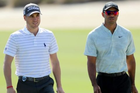 Justin Thomas and Tiger Woods will be paired together in Round 1 at Albany (David Cannon - Getty Images)