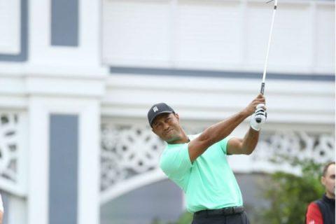 Tiger Woods wins Hero Bah Mar shot