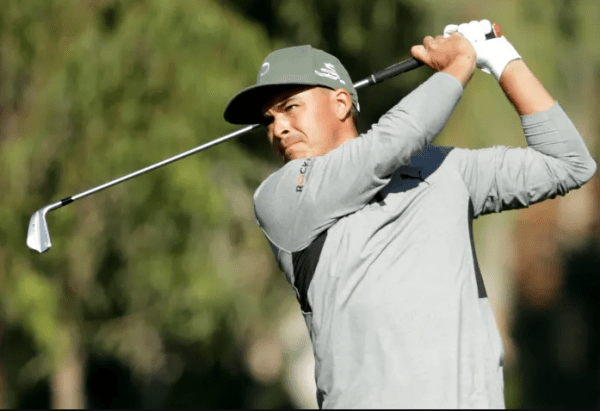 Rickie Fowler trails the lead by one shot at The American Express