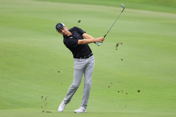 Brendon Todd of the United States plays his third shot on the 17th hole during the third round of the World Golf Championship-FedEx St Jude Invitational at TPC Southwind on August 01, 2020 in Memphis, Tennessee. (Photo by Andy Lyons/Getty Images)