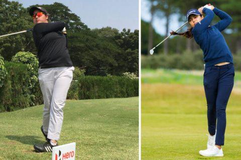 Amandeep Drall and Tvesa Malik at the DLF Golf & Country Club