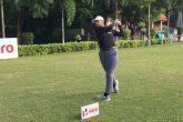 Jahanvi Bakshi in action at Noida Golf Course