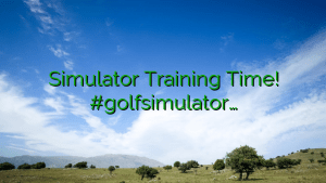 Simulator Training Time! #golfsimulator…