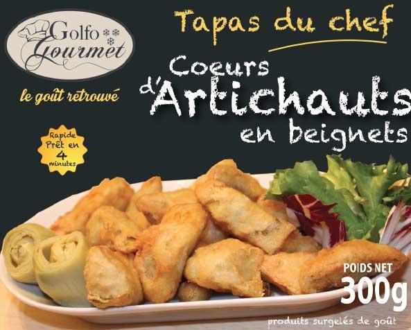 Coeurs d'artichauts en beignet