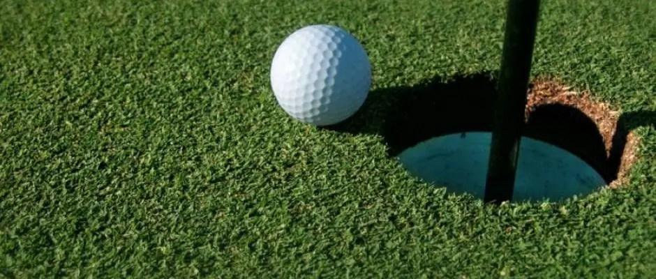 Golf Ball and Flag