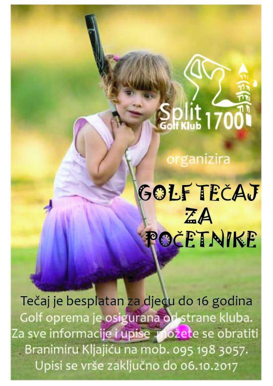 GOLF TEČAJ ZA POČETNIKE 2017