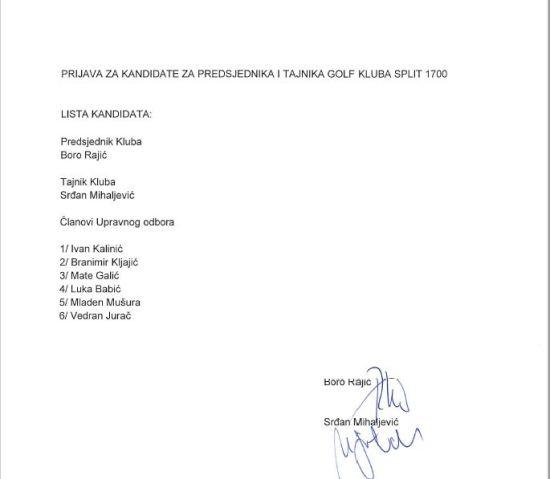 prijava za predsjednika