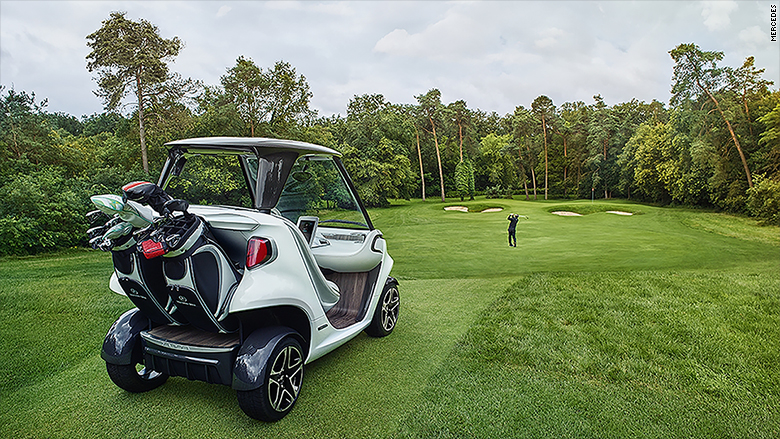 golf cart on golf field