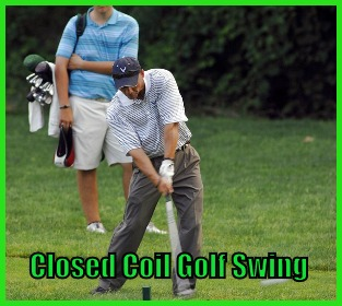 Closed Coil Golf Swing