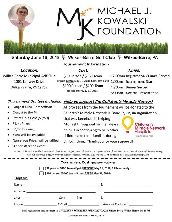 MJK Foundation Golf Tournament