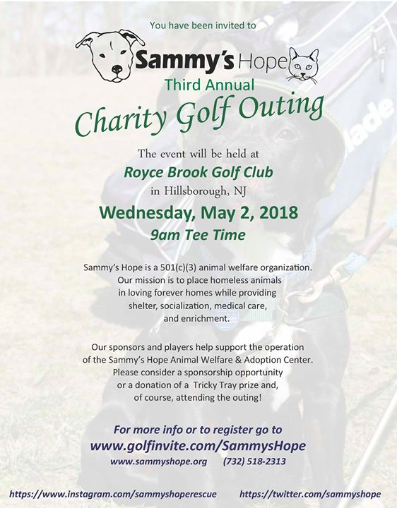 3rd Annual Sammy's Hope Charity Golf Outing