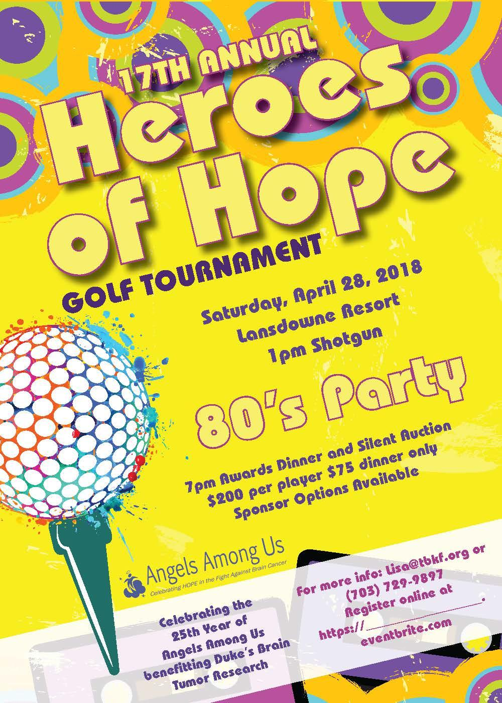 17th Annual Heroes of Hope Golf Tournament, Awards Dinner and Auction