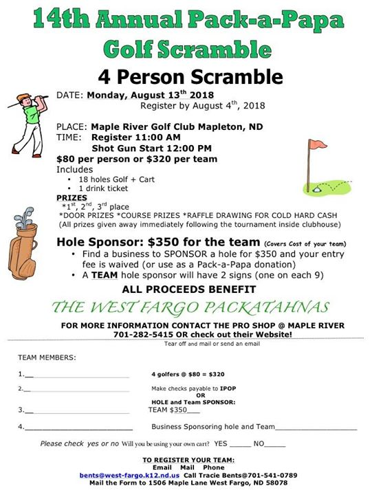 14th Annual Pack-A-Papa Golf Tournament