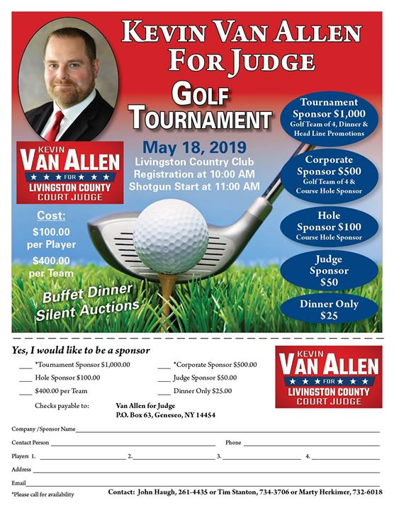 Van Allen For Judge Golf Tournament
