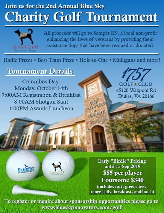 2nd Annual Blue Sky Charity Golf Tournament