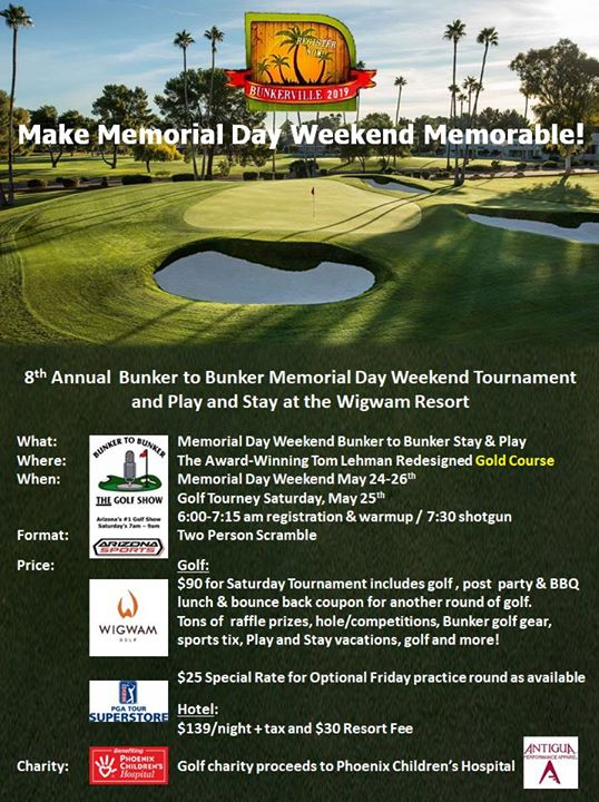 Memorial Day Weekend Charity Golf Tournament at Wigwam Resort