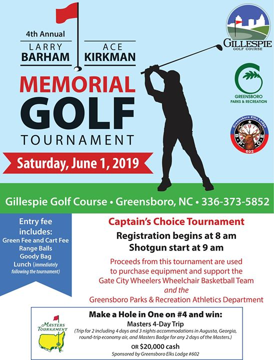 Larry Barham & Ace Kirkman Memorial Golf Tournament