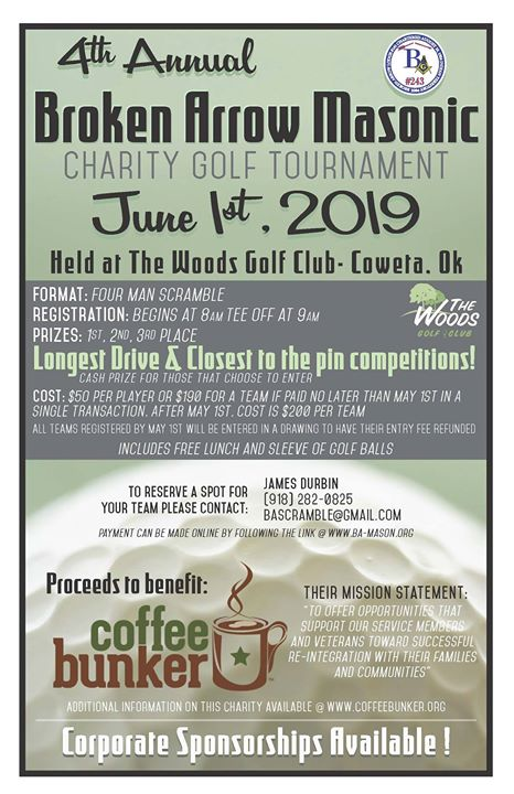 4th Annual Masonic Charity Golf Tournament