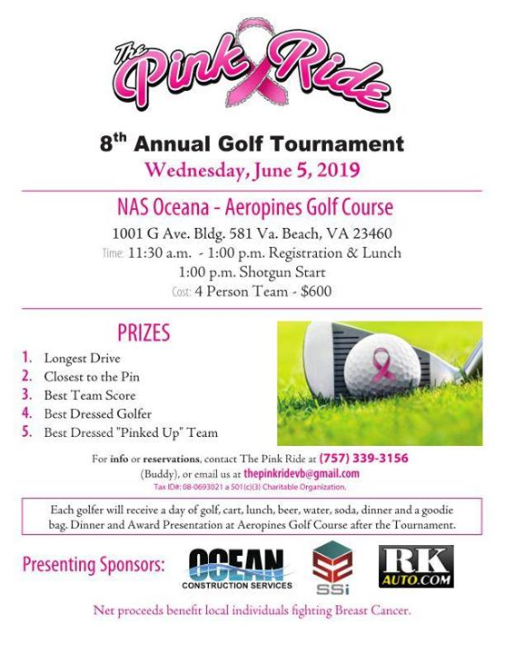 The Pink Ride's 8th Annual Golf Tournament