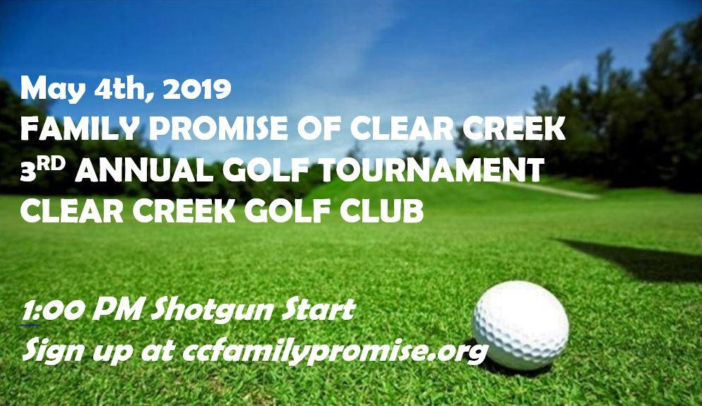 RESCHEDULED: Family Promise of Clear Creek 3rd Annual Golf Tournament