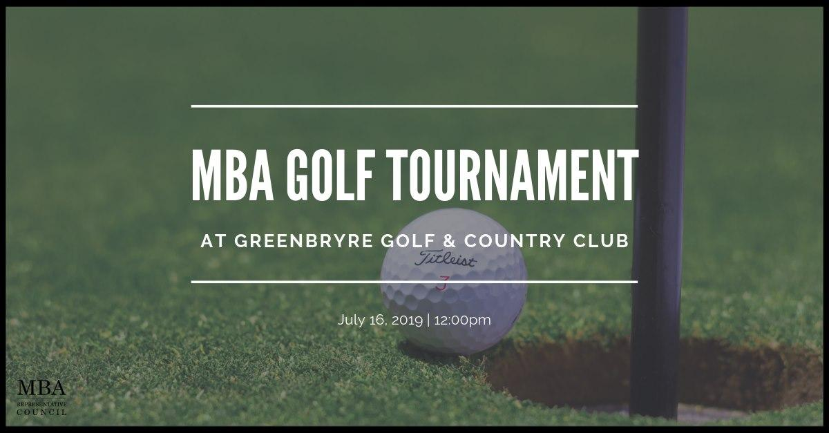 MBA Golf Tournament - Faculty and Alumni