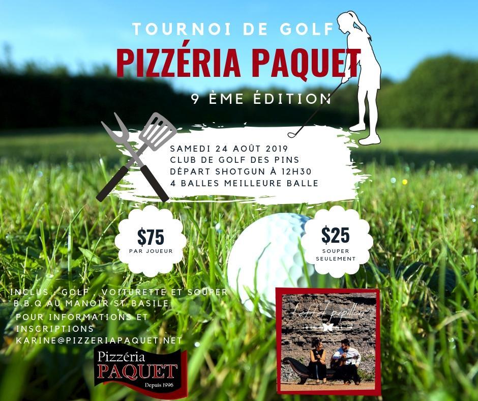 Tournoi de golf des Pizzéria Paquet