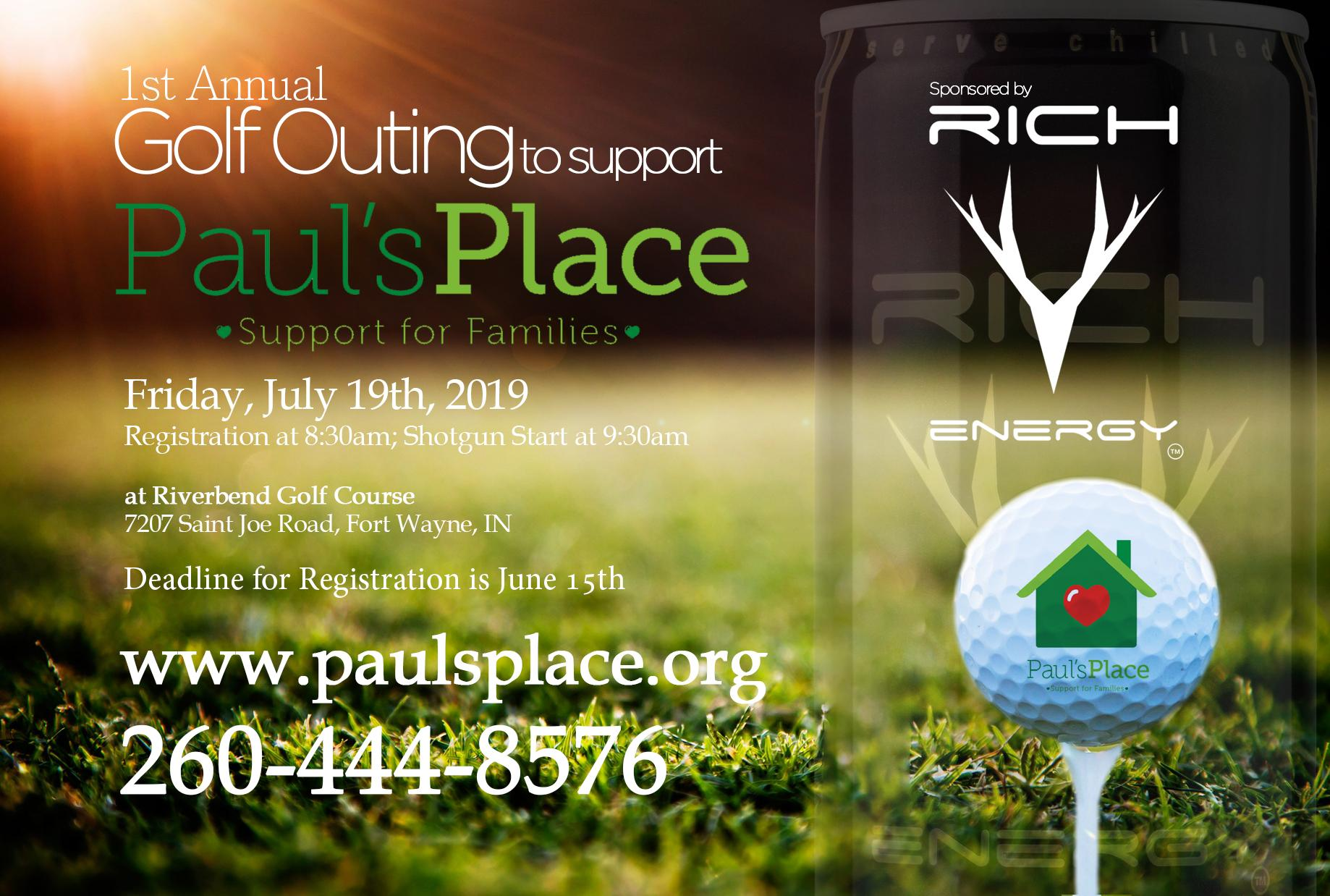 Paul's Place 1st Annual Golf Outing