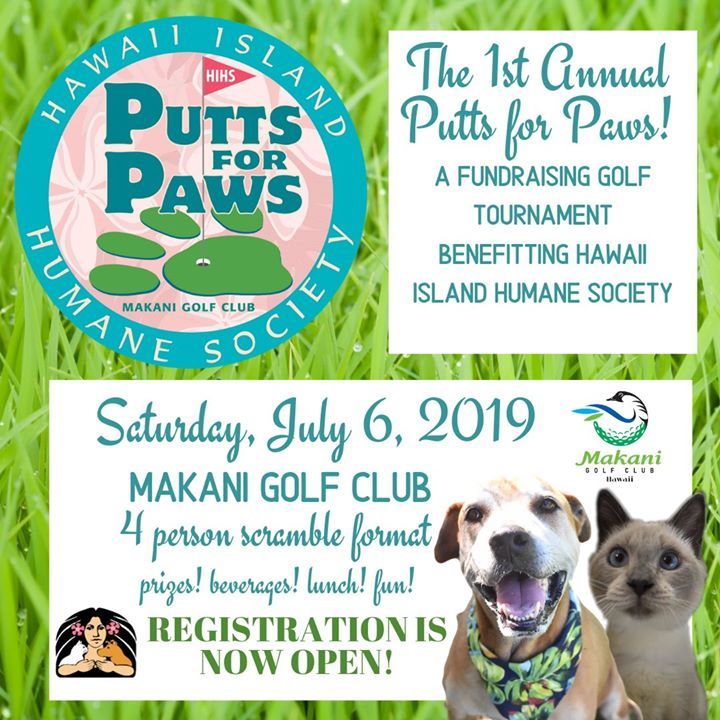 1st Annual Putts for Paws: A Fundraising Golf Tournament