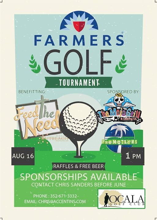 Farmers 1st Annual Golf Tournament to Benefit Feed The Need