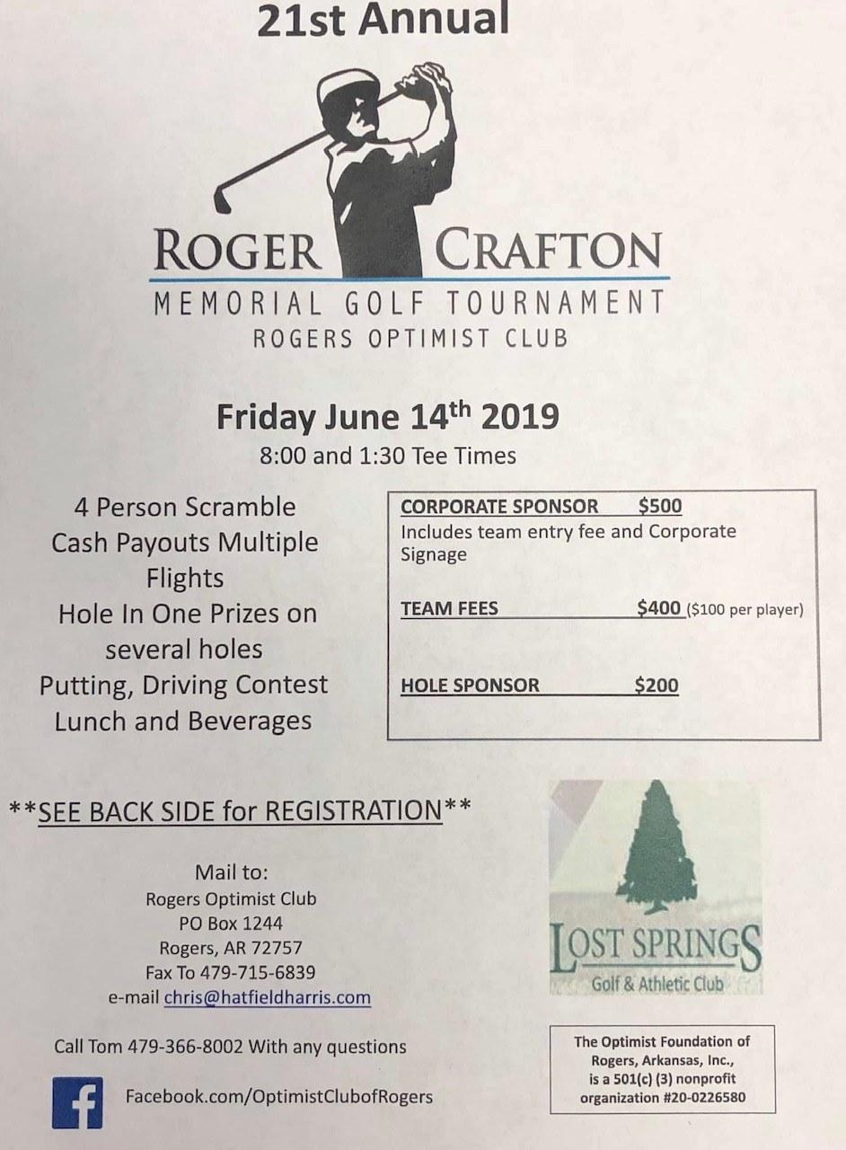 21st Annual Roger Crafton Memorial Golf Tournament