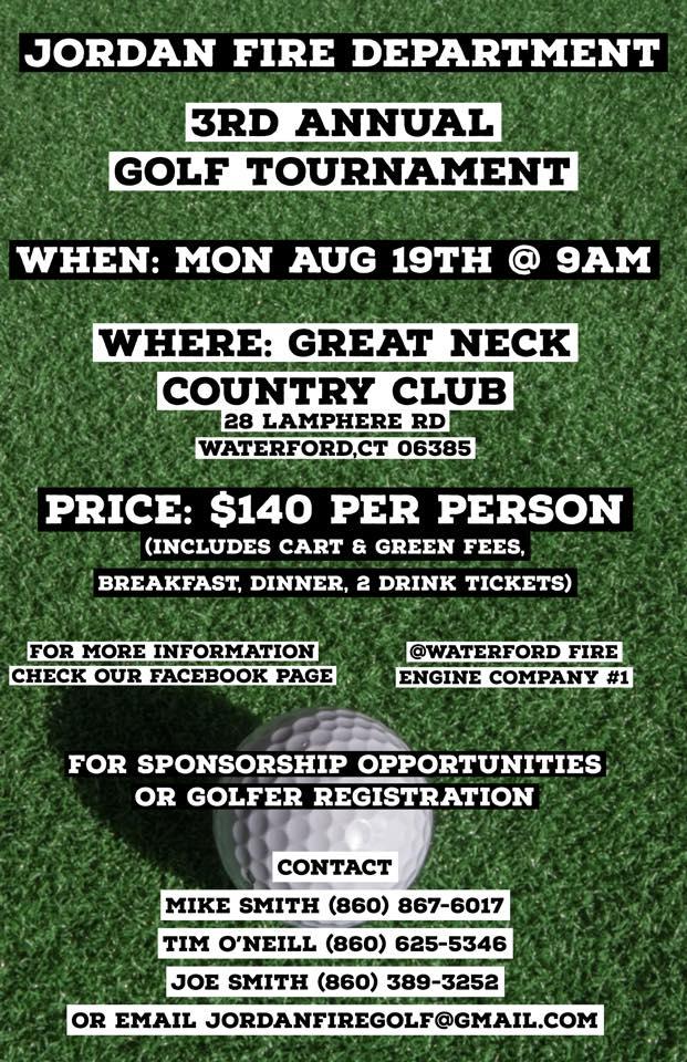3rd Annual Jordan Fire Golf Tournament