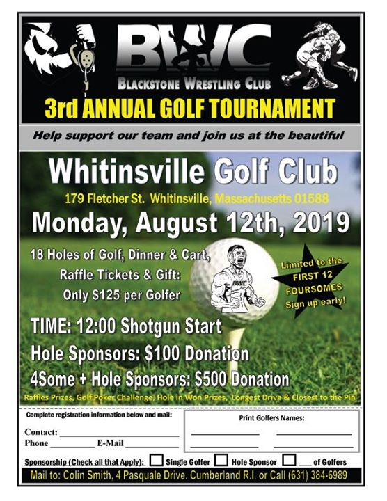 Blackstone Wrestling Clubs 3rd Annual Golf Tournament