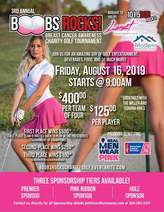 3RD Annual BOOBS ROCKS Breast Cancer Awareness Charity Golf Tournament