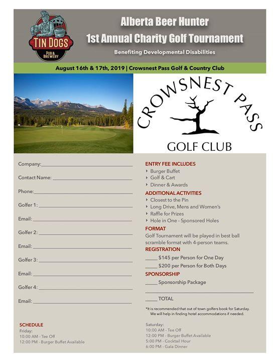 Alberta Beer Hunter Charity Golf Tournament