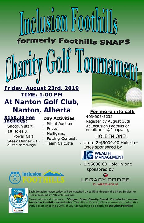 First Inclusion Foothills Golf Tournament