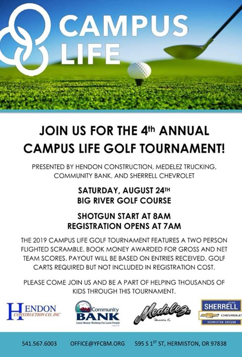 Campus life 4th annual Golf Tournament