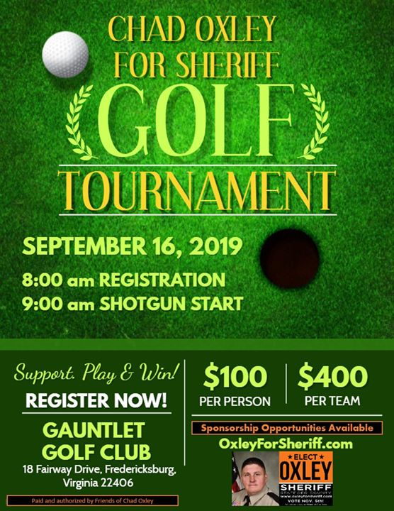 Chad Oxley for Sheriff Golf Tournament