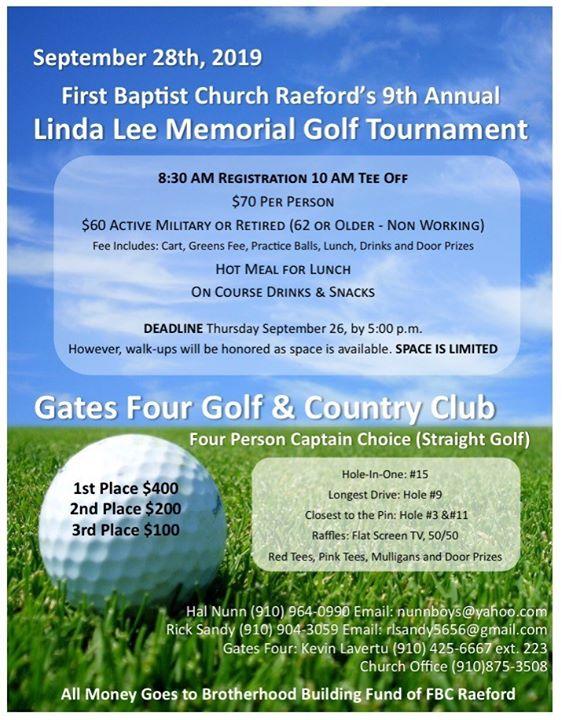GOLF Tournament First Baptist Raeford