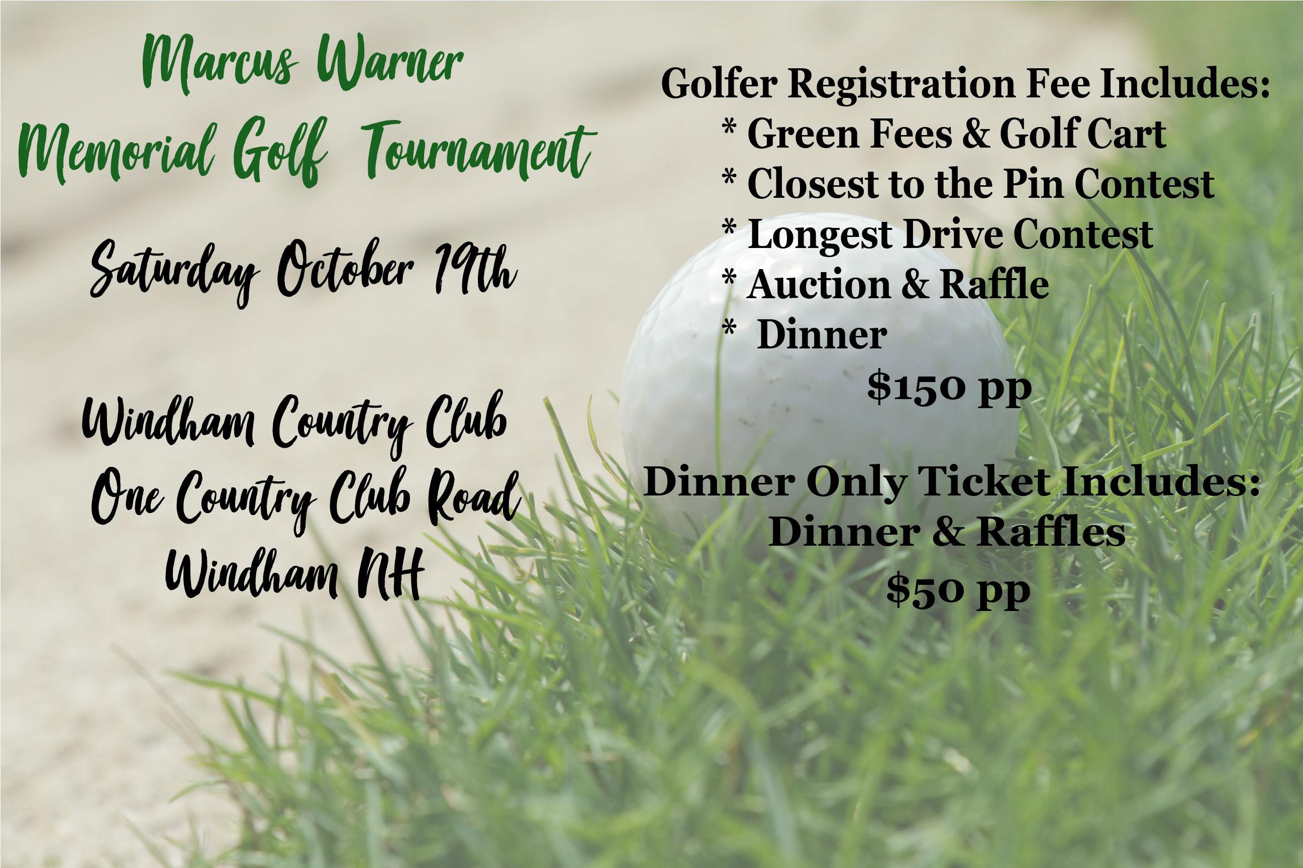 Marcus Warner Memorial Golf Tournament