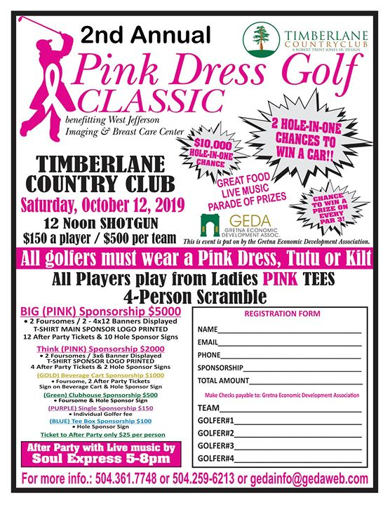 Pink Dress Golf Tournament