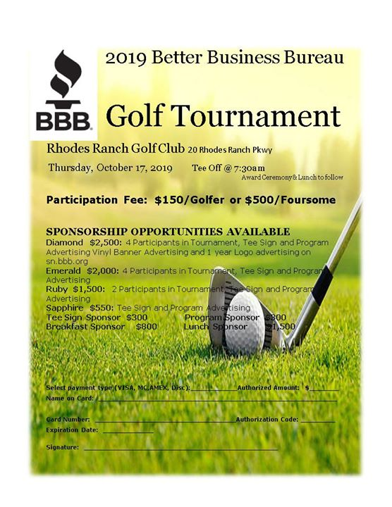 2019 BBB Golf Tournament