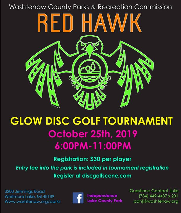 Red Hawk Glow Disc Golf Tournament