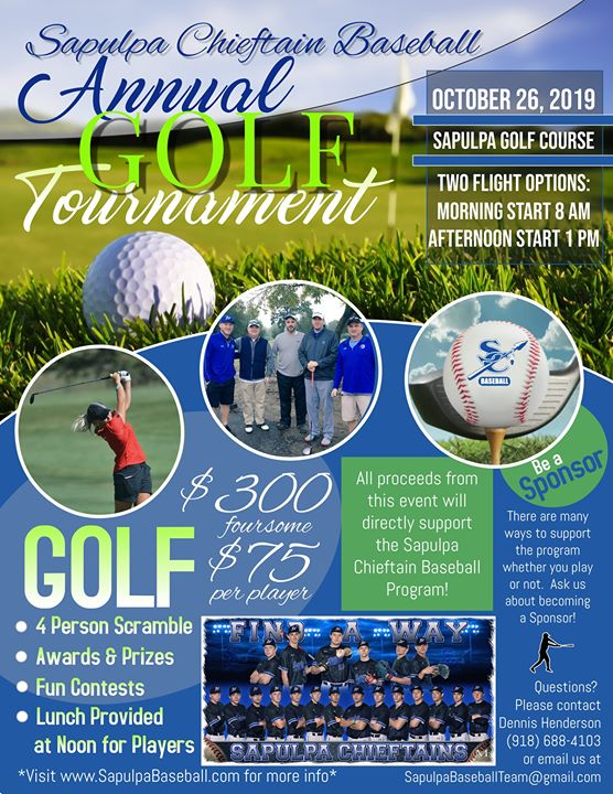 Sapulpa Chieftain Baseball Golf Tournament