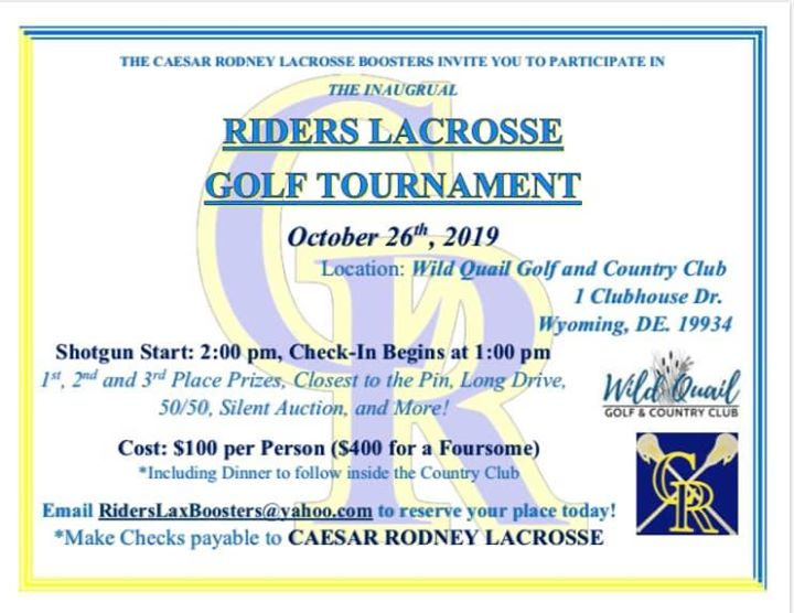 Riders Lacrosse Golf Tournament
