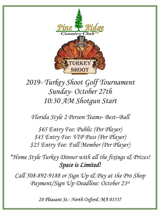 2019 Turkey Shoot Golf Tournament
