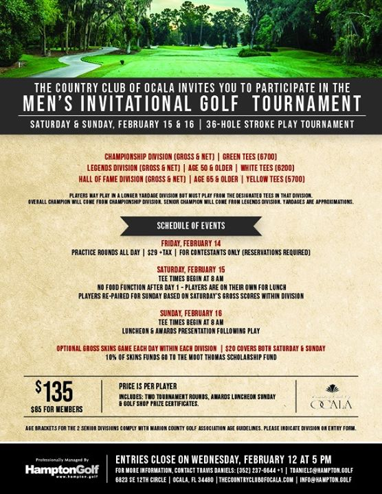 Men's Invitational Golf Tournament