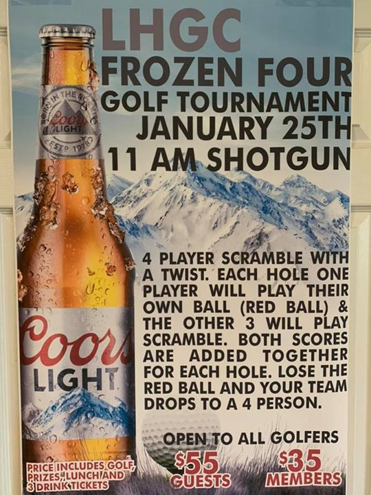 2020 Frozen 4 Golf Tournament