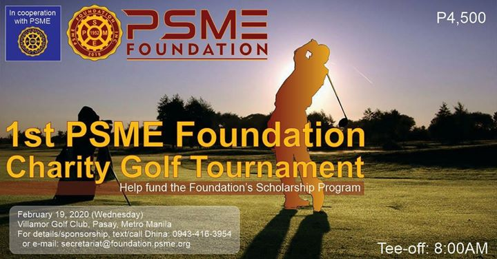 1st PSME Foundation Charity Golf Tournament